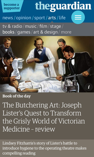 The Butchering Art, Guardian book of the day