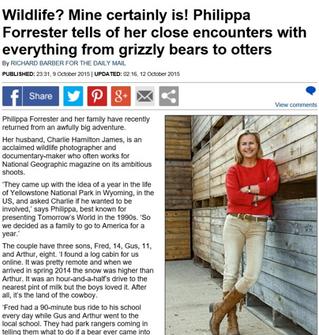 Philippa Forrester, close encounters...