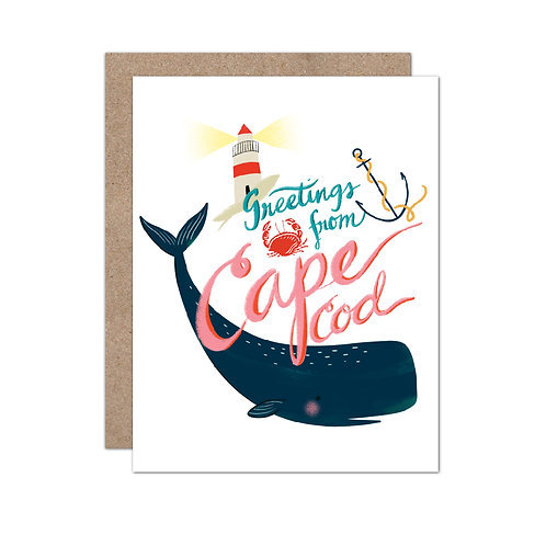 Greetings From Cape Cod Card - Set of 6