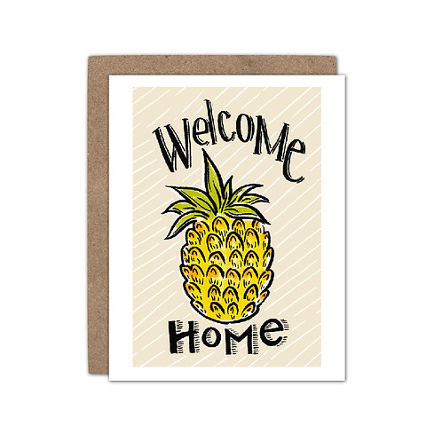 Welcome Home Pineapple | New Home Card - Set of 6