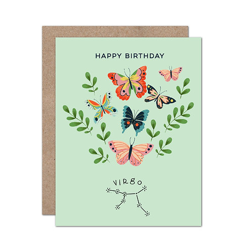 Zodiac Sign Birthday Cards | Choose Set of 6 of Same Sign