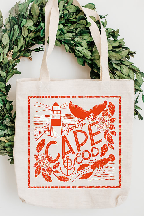 Greetings From Cape Cod Canvas Tote