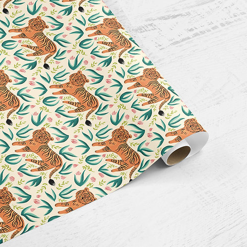 Tiger in the Jungle Gift Wrap