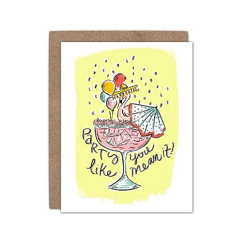 Flamingo Margarita - Party | Celebration Card