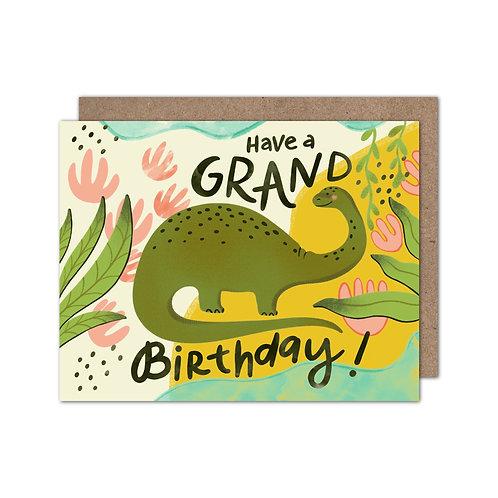 Have a Grand Birthday | Dinosaur Birthday Card - Set of 6