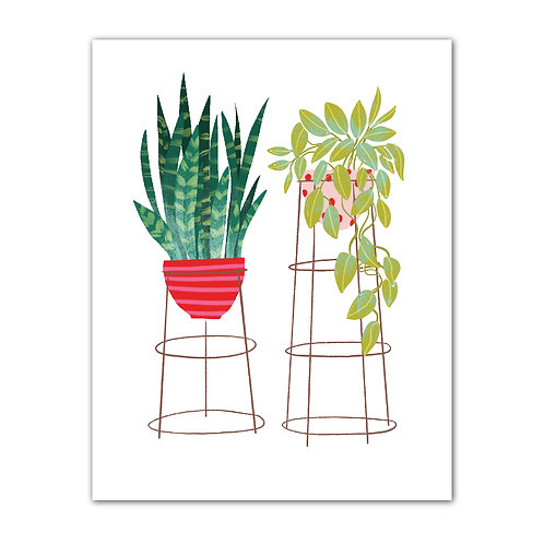 Tall Potted Plants Art Print