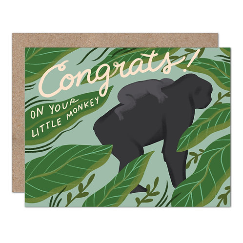 Congrats On Your Little Monkey | New Baby Card - Set of 6