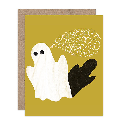 BOO! Ghost Halloween Card - Set of 6