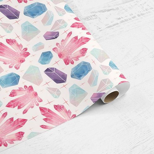 Crystals & Gems Gift Wrap