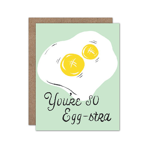 You're So Eggstra - Double Yolk - Punny | Congrats | Encouragement Card