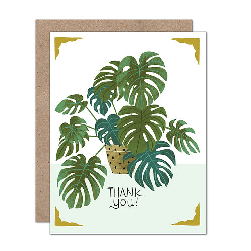 Potted Monstera - Thank You Card - Set of 6