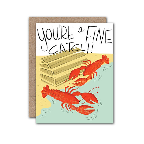You're a Fine Catch! Card - Set of 6