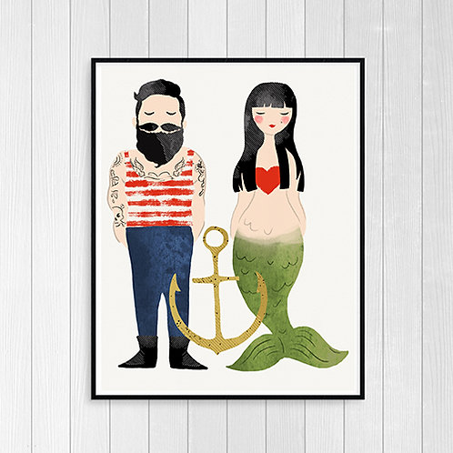 Sailor & Mermaid