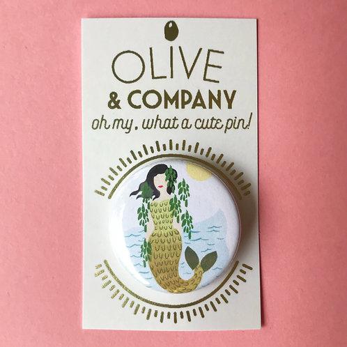 Mermaid 1.5 Inch Pinback Button