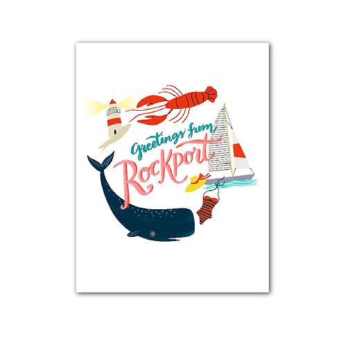 Greetings From Rockport Art Print