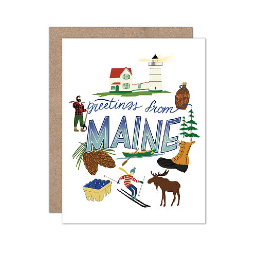 Greetings From Maine | New Englander Card - Set of 6