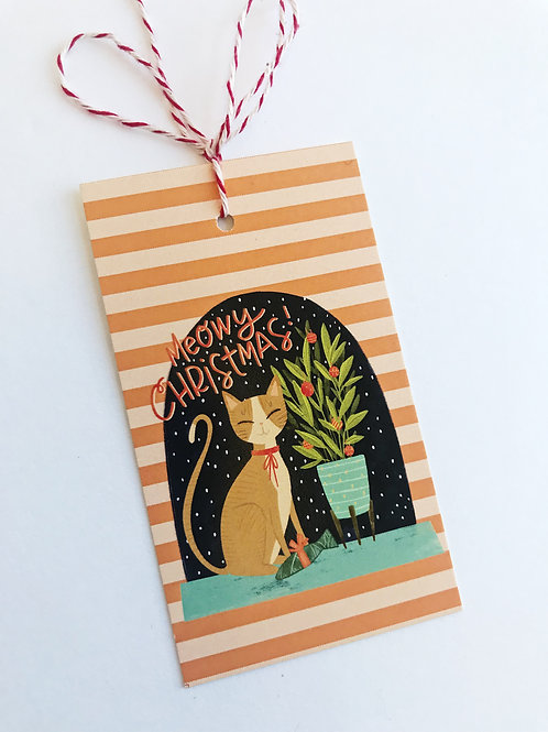 Meowy Christmas - Gift Tags - Set of 8