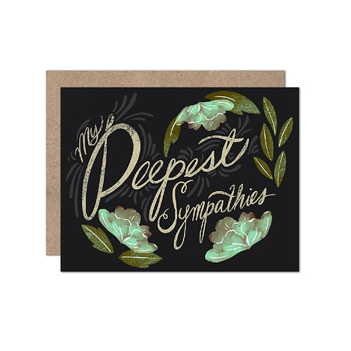 My Deepest Sympathies Card - Set of 6