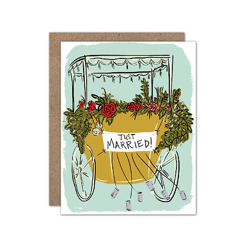 Just Married | Carriage - Set of 6