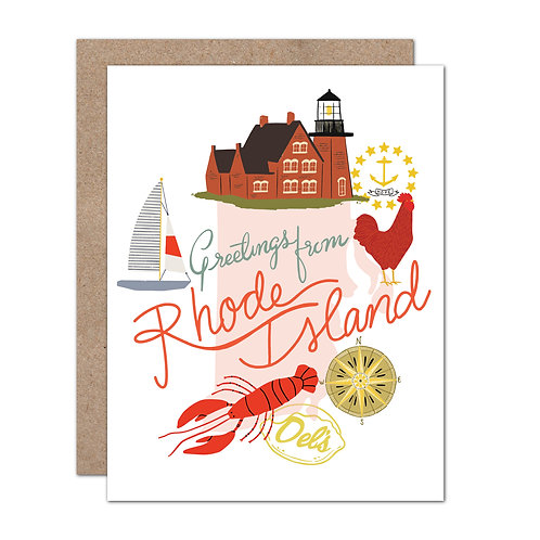 Greetings From Rhode Island Card - Set of 6