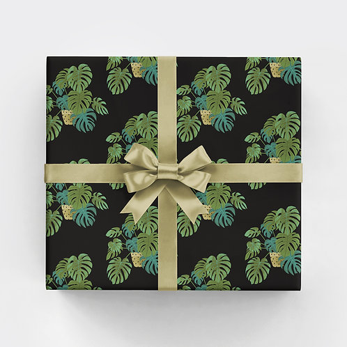 Potted Monstera Gift Wrap