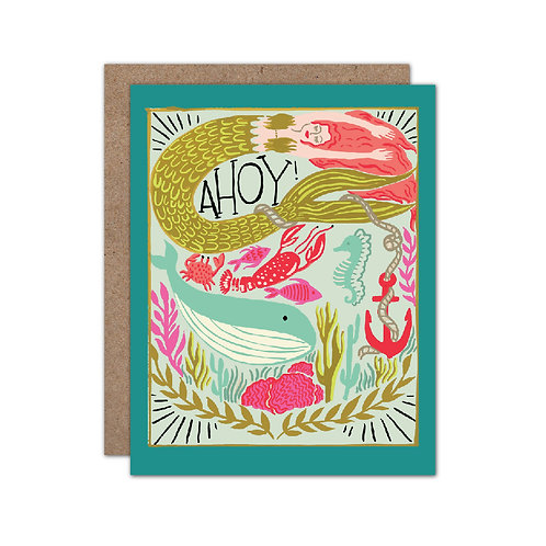 Ahoy Mermaid Card - Set of 6