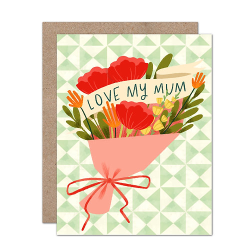 Love My Mum | Mother's Day Card - Set of 6