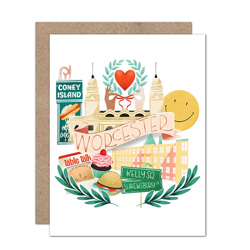 City of Worcester Card - Set of 6