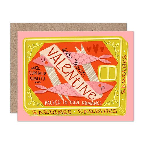 We're Tight, Valentine | Vintage Sardine Can | Valentine's Day Card