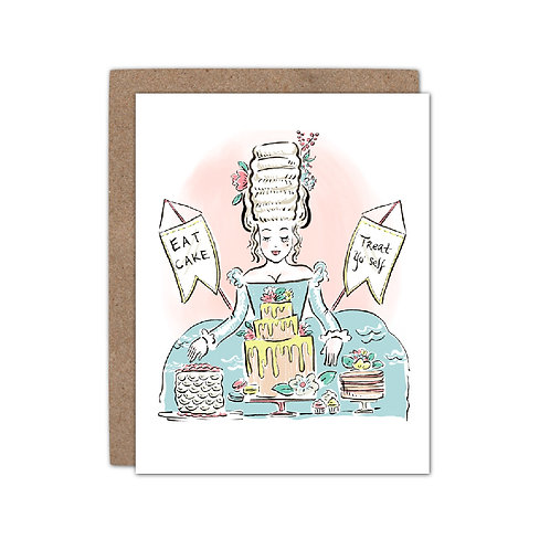 Marie Antoinette Eat Cake - Birthday | Celebration Card