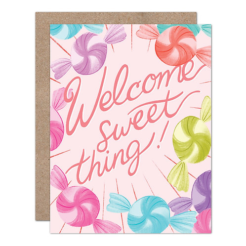 Welcome Sweet Thing | New Baby Card - Set of 6