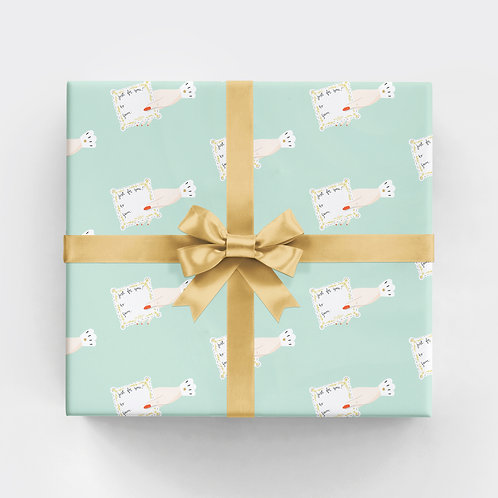 To From Hand Gift Wrap