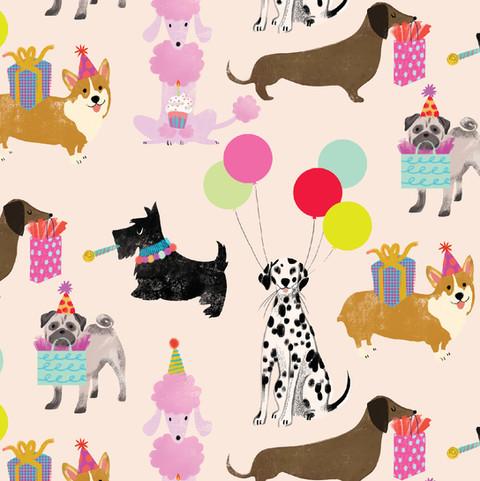Birthday Dogs Gift Wrap
