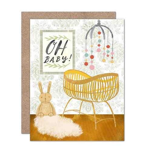 Oh Baby Nursery | Hygge Nursery | Baby Shower - Set of 6