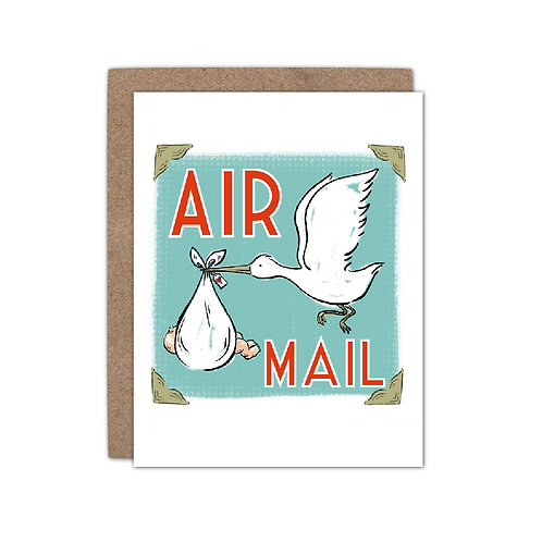 Air Mail - New Baby Card - Set of 6