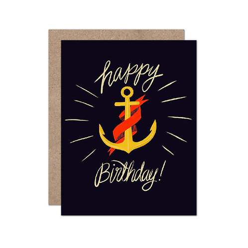 Anchor Happy Birthday - Party | Celebration Card - Set of 6