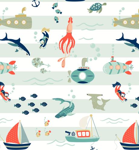 Submarine Sea Print