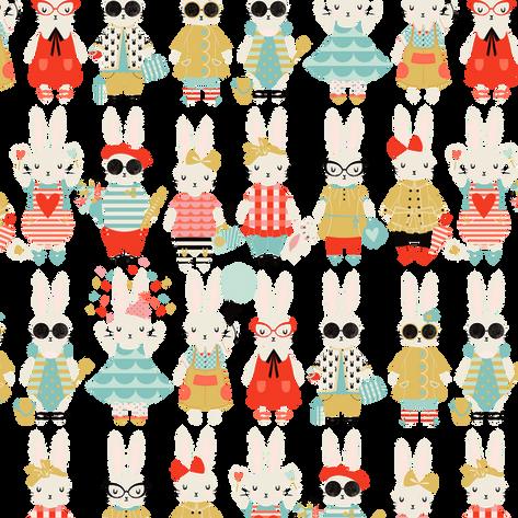 Fashion Bunny Print