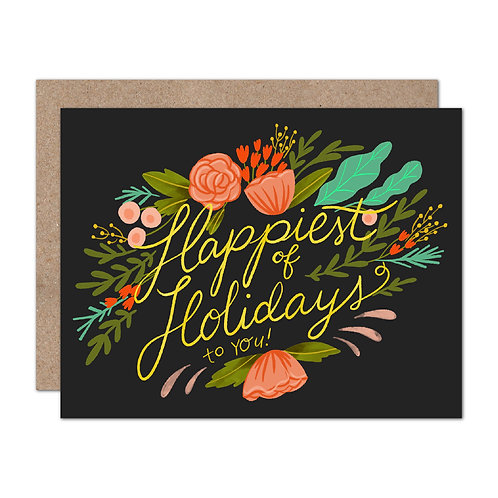 Happiest of Holidays to You Holiday Card