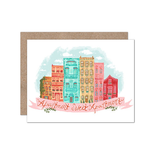 Apartment Sweet Apartment | New Home | House Warming Card