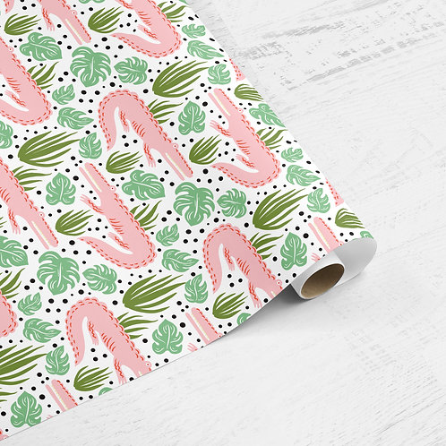 Pink Croc Gift Wrap