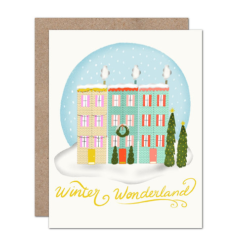 Winter Wonderland Holiday Card - Set of 6