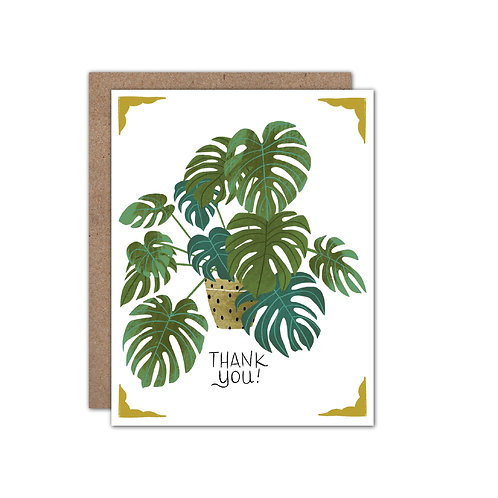 Potted Monstera - Thank You Card