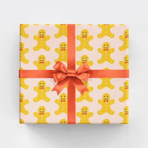 Gingerbread Man Gift Wrap