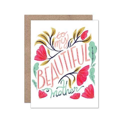 To My Beautiful Mother Card - Set of 6