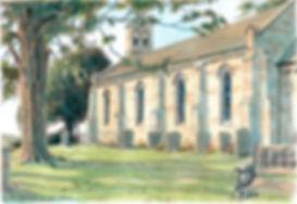 Tasley Church bridgnorth copyright scale