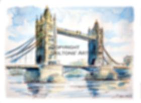 london tower bridge watercolour scaled c