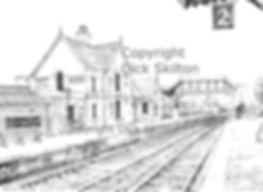 Bewdley Station S V R pen drawing copyri