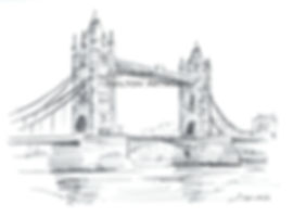 London Tower bridge pencil scaled down c