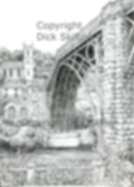 ironbridge vertical pen drawing copyrigh